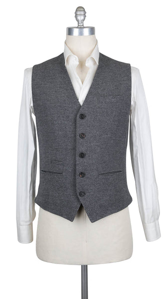 $1275 Brunello Cucinelli Gray Wool Blend Melange Suit Vest - (616) - Parent