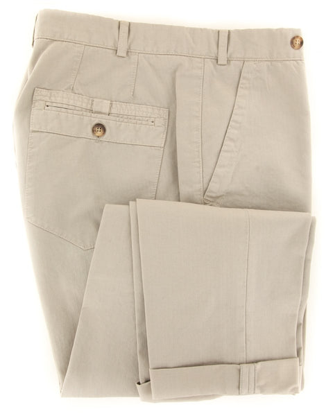$595 Brunello Cucinelli Beige Pants - Extra Slim - (BC2252M47PC1533) - Parent