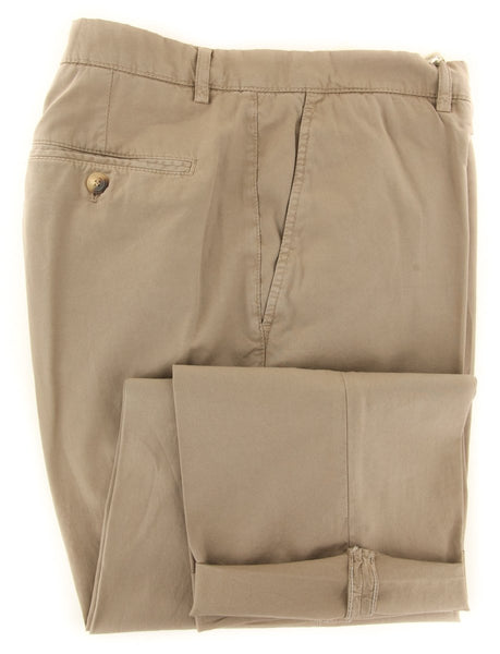 $595 Brunello Cucinelli Beige Pants - Slim - (BC2862M58PC133) - Parent