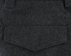 $1245 Brunello Cucinelli Charcoal Gray Melange Wool Pants - Slim - (431) - Parent