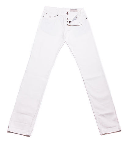 Brunello Cucinelli White Jeans - Slim