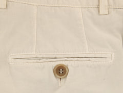 $595 Brunello Cucinelli Beige Solid Pants - Slim - (BCL0050M78DC151) - Parent
