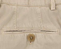 $595 Brunello Cucinelli Beige Solid Pants - Slim - (BCL005YM78WC166) - Parent