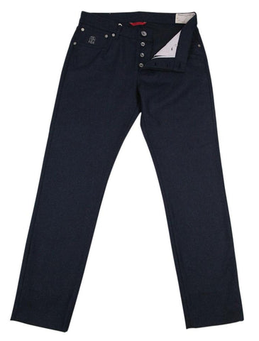 Brunello Cucinelli Midnight Navy Blue Pants