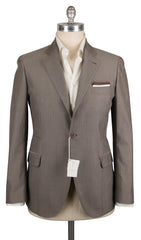 New $2315 Brunello Cucinelli Gray Cotton Sportcoat - (BC4718300016) - Parent