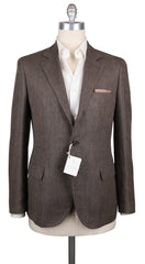 New $2480 Cucinelli Light Brown Herringbone Sportcoat - 40/50 - (BC4018300017)