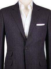 New $2475 Brunello Cucinelli Brown Herringbone Sportcoat - (BC4018310018) - Parent