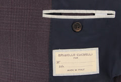 New $2775 Brunello Cucinelli Dark Brown Plaid Sportcoat - (BC40883001600) - Parent