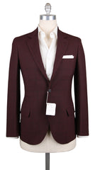 New $2780 Cucinelli Dark Brown Wool Blend Fancy Sportcoat - (BC40983001308) - Parent