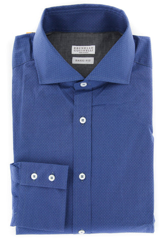 Brunello Cucinelli Blue Shirt - Full