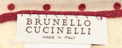 "$170 Brunello Cucinelli Burgundy Red Pocket Square -  x 13.75"" - (BC8300091CG)"