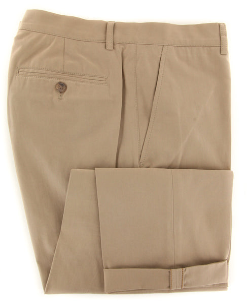 $595 Brunello Cucinelli Light Brown Pants - Slim - (BCPANTLBRNX8) - Parent