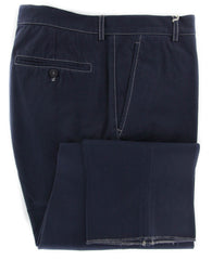 New $595 Brunello Cucinelli Dark Blue Solid Pants - Slim - 40/56 - (857)
