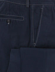 New $595 Brunello Cucinelli Dark Blue Solid Pants - Slim - (857) - Parent