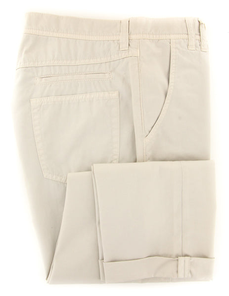 $595 Brunello Cucinelli Beige Pants - Extra Slim - (BCR0040M78WC161) - Parent