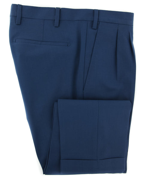 New $350 Barba Napoli Navy Blue Pants - Extra Slim - (6327614204R6) - Parent