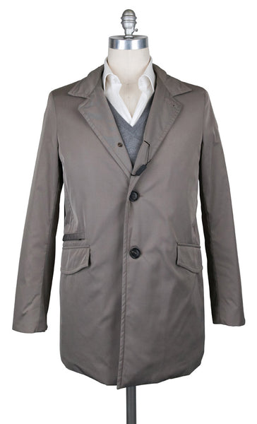 New $1275 Barba Napoli Light Brown Solid Jacket - (AUC39I365139) - Parent