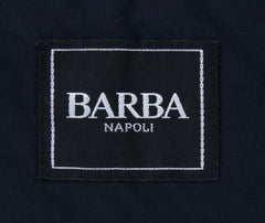 New $1275 Barba Napoli Navy Blue Polyester Solid Jacket - (AUC39I425837) - Parent