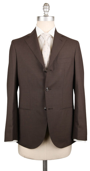 New $1550 Barba Napoli Brown Wool Solid Suit - (BNSUIT230B15) - Parent