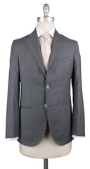 New $1550 Barba Napoli Light Gray Wool Solid Suit - (BNSUIT24B164) - Parent
