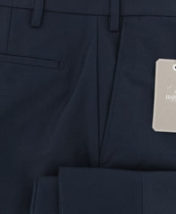 New $325 Barba Napoli Dark Blue Solid Pants - Extra Slim - (BA377070204R6) - Parent