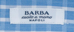 New $325 Barba Napoli Blue Plaid Shirt - Slim - 15.5/39 - (D2U10TSP1321)