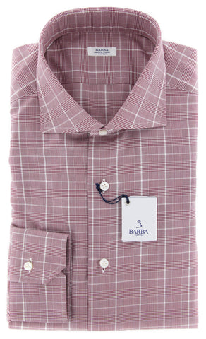 Barba Napoli Burgundy Red Shirt - 14.5 US / 37 EU