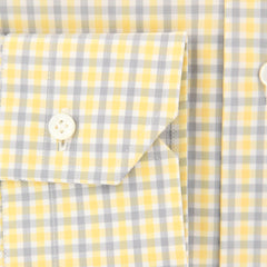 New $325 Barba Napoli Yellow Plaid Shirt - Slim - (D220000R8-U10-T) - Parent