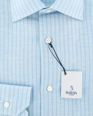 Barba Napoli Light Blue Shirt - Slim