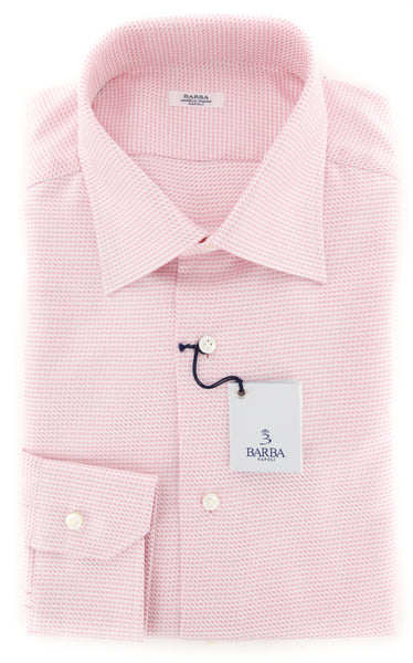 Barba Napoli Pink Shirt - 16 US / 41 EU  Shirt - ShopTheFinest- Luxury  Italian Designer Brands for men