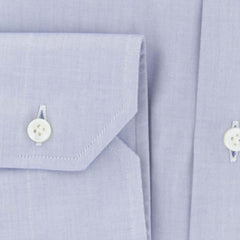 $325 Barba Napoli Light Blue Soild Cotton Shirt - Slim - (802) - Parent