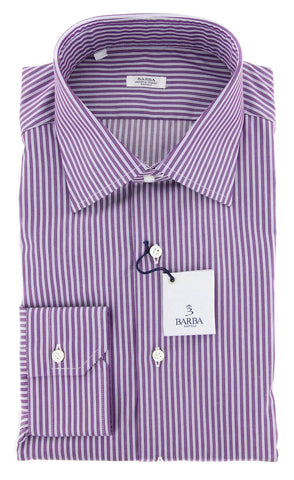 Barba Napoli Purple Shirt - Slim - 14.5 US / 37 EU