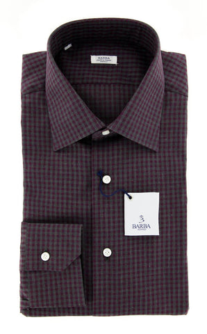 Barba Napoli Burgundy Red Shirt - Slim - 15.5 US / 39 EU