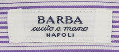 New $325 Barba Napoli Purple Striped Shirt - Slim - 15/38 - (D2U10T341906)