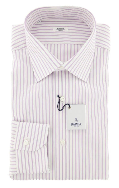 New $325 Barba Napoli Lavender Purple Shirt - Slim - 16/41 - (D2U10T350902)