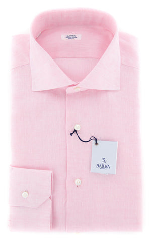 Barba Napoli Pink Shirt - 15 US / 38 EU