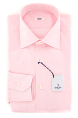 New $325 Barba Napoli Pink Solid Shirt - Slim - 14.5/37 - (428219U10T)