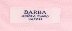 New $325 Barba Napoli Pink Solid Shirt - Slim - (428219U10T) - Parent