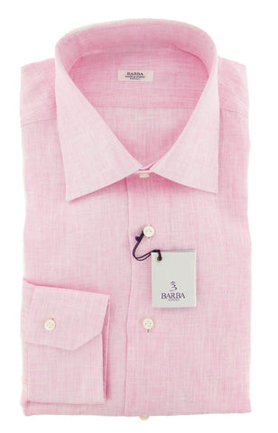 Barba Napoli Pink Shirt - Slim - 17 US / 43 EU