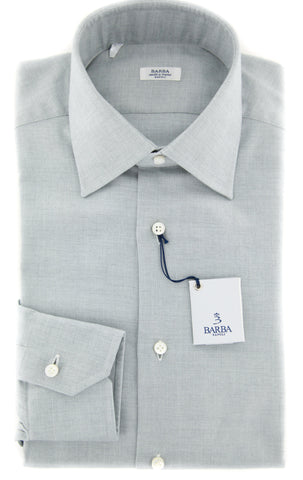 Barba Napoli Light Gray Shirt - Slim