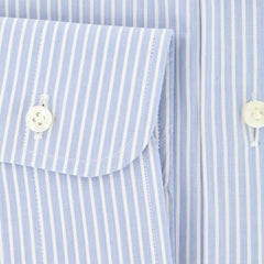 $325 Barba Napoli Light Blue Striped Shirt - Slim - (D443714U63R) - Parent