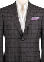 New $1200 Barba Napoli Brown Window Pane Sportcoat - (189615X5) - Parent