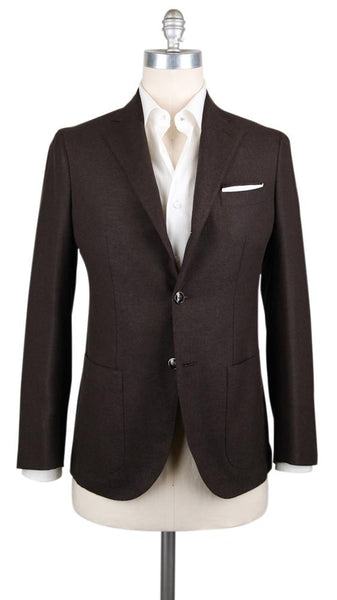 New $1200 Barba Napoli Brown Wool Blend Solid Sportcoat - (BNSPT22B152) - Parent