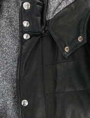 $1600 Barba Napoli Black Leather Jacket with Removable Hood  - (M8) - Parent