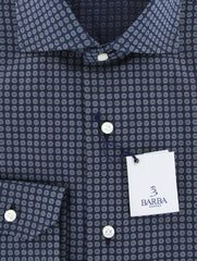 New $325 Barba Napoli Navy Blue Shirt - Extra Slim - 15.75/40 - (I1U13T00000P4)