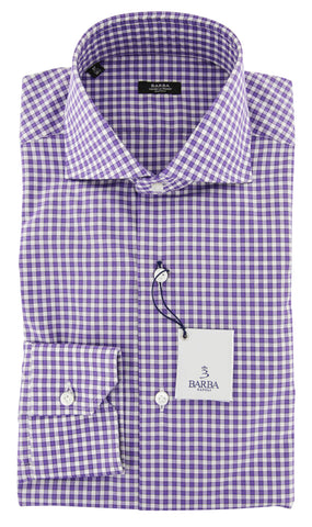 Barba Napoli Purple Shirt - Slim
