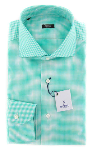 Barba Napoli Green Shirt - Extra Slim - 16.5 US / 42 EU