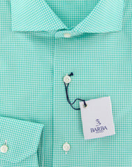 New $325 Barba Napoli Green Shirt - Extra Slim - 16.5/42 - (I1U13T340130)