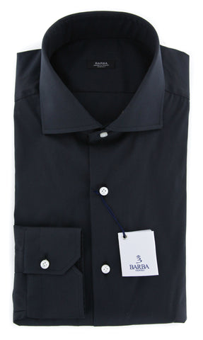 Barba Napoli Black Shirt - Extra Slim