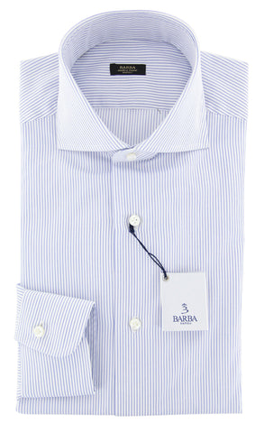 Barba Napoli Blue Shirt - Extra Slim